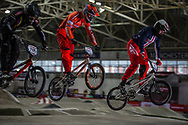 #785 (CALIXTO LOPEZ Miguel Alejandro) COL, #241 (BENSINK Niels) NED and #19 (POSEY Justin) USA at the 2016 UCI BMX Supercross World Cup in Manchester, United Kingdom<br /> <br /> A high res version of this image can be purchased for editorial, advertising and social media use on CraigDutton.com<br /> <br /> http://www.craigdutton.com/library/index.php?module=media&pId=100&category=gallery/cycling/bmx/SXWC_Manchester_2016