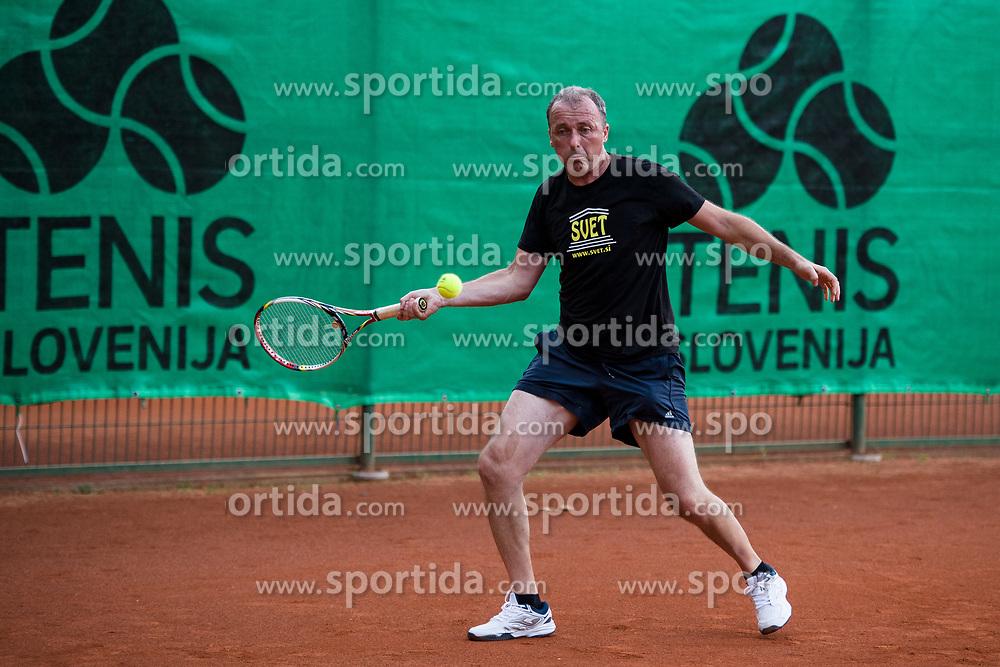 Edi Sep, snemalec POP TV, Drzavno prvenstvo novinarjev v tenisu 2019, on June 12, 2019 in Tivoli, Ljubljana, Slovenia. Photo by Saso Pahic Szabo / Sportida