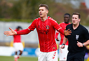 Toby Stevenson of Charlton Athletic during under-23 professional development league match between Watford and Charleton Athletic at Charleton Athletic Park Stadium, Monday, Feb. 3, 2020, in St. Albans, United Kingdom. (Mitchell Gunn-ESPA Images/Image of Sport)