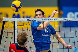 Gerard Baan of Sliedrecht Sport in action during the quarter cupfinal between Taurus vs. Sliedrecht Sport on April 02, 2021 in sports hall De Kruisboog, Houten