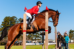 March 22, 2019 - Raeford, North Carolina, US - March 22, 2019 - Raeford, N.C., USA - COLLEEN LOACH of Canada riding FOREIGN QUALITY warm-up before competing in the CCI3-S show jumping division at the sixth annual Cloud 11-Gavilan North LLC Carolina International CCI and Horse Trial, at Carolina Horse Park. The Carolina International CCI and Horse Trial is one of North AmericaÃ•s premier eventing competitions for national and international eventing combinations, hosting International competition at the CCI2*-S through CCI4*-S levels and National levels of Training through Advanced. (Credit Image: © Timothy L. Hale/ZUMA Wire)