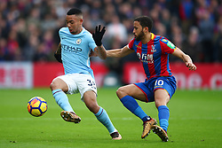 31 December 2017 -  Premier League - Crystal Palace v Manchester City - Gabriel Jesus of Manchester City in action with Andros Townsend of Crystal Palace - Photo: Marc Atkins/Offside