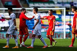 Joe Morrell of Wales after a 1-0 win - Rogan/JMP - 06/09/2020 - FOOTBALL - Cardiff City Stadium - Cardiff, Wales - Wales v Bulgaria - UEFA Nations League Group B4.