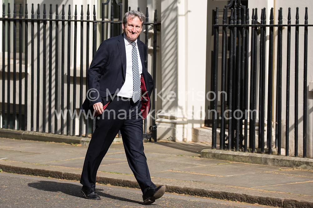London, UK. 30th April 2019. Damian Hinds MP, Secretary of State for Education, arrives at 10 Downing Street for a Cabinet meeting.