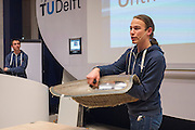Het Human Power Team Delft en Amsterdam presenteert het ontwerp van de nieuwe fiets, de VeloX3.<br />