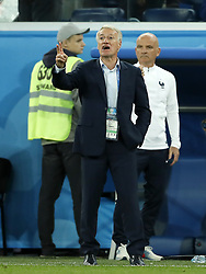 France coach Didier Deschamps during the 2018 FIFA World Cup Semi Final match between France and Belgium at the Saint Petersburg Stadium on June 26, 2018 in Saint Petersburg, Russia