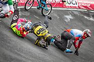 2021 UCI BMXSX World Cup<br /> Round 4 at Bogota (Colombia)<br /> Semis<br /> ^me#226 CATENACCI, Romain (FRA, ME) <br /> ^me#380 DE SOUZA FILHO, Anderson Ezequiel (BRA, ME) <br /> ^me#909 KATYSHEV, Aleksandr (RUS, ME) Chase, Team_RUS