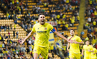 The player of Villarreal Bruno Soriano celebrates his goal during the match of Uefa Europa League, 3 day. (Photo: Alter Photos / Bouza Press / Maria Jose Segovia)
