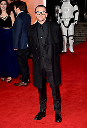Simon Pegg attending the european premiere of Star Wars: The Last Jedi held at The Royal Albert Hall, London.