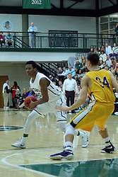 21 February 2017:  Jaylen Beasley during an College men's division 3 CCIW basketball game between the Augustana Vikings and the Illinois Wesleyan Titans in Shirk Center, Bloomington IL