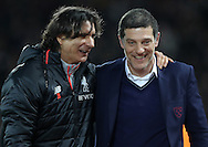 Manager of West Ham United Slaven Bilic  and Liverpool assistant manager Zeljko Buvac before the Premier League match at Anfield Stadium, Liverpool. Picture date: December 11th, 2016.Photo credit should read: Lynne Cameron/Sportimage