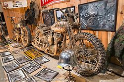 Hwzn Mfg Company's 1948 Harley-Davidson WLA bober fresh from the mud at the Mooneyes Yokohama Hot Rod & Custom Show. Yokohama, Japan. December 6, 2015.  Photography ©2015 Michael Lichter.