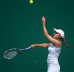 23.06.2011, Wimbledon, London, GBR, Wimbledon Tennis Championships, im Bild Tamira Paszek (AUT) in action during the Ladies' Singles 2nd Round match on day four of the Wimbledon Lawn Tennis Championships at the All England Lawn Tennis and Croquet Club, EXPA Pictures © 2011, PhotoCredit: EXPA/ Propaganda/ *** ATTENTION *** UK OUT!