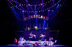 The Mad Hatter's Tea Party <br /> by Zoo Nation<br /> directed by Kate Prince<br /> presented by Zoo Nation, The Roundhouse & The Royal Opera House<br /> at The Roundhouse, London, Great Britain <br /> rehearsal <br /> 29th December 2016 <br /> <br /> Tommy Franzen as Ernest <br /> <br /> Issac Turbo Baptiste<br /> as the Mad Hatter <br /> <br /> Teneisha Bonner as The Queen of Hearts <br /> <br /> Kayla Lomas-Kirton as Alice <br /> <br /> Rowen Hawkins as Tweedle Dum <br /> <br /> Manny Tsakanika as Tweedle Dee<br /> <br /> Bradley Charles as the March Hare <br /> <br /> Andry Oporia as The Cheshire Cat <br /> <br /> Jaith Betote as The White Rabbit <br /> <br /> Photograph by Elliott Franks <br /> Image licensed to Elliott Franks Photography Services