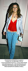 FRANCESCA VERSACE at a party in London on 11th May 2004.PTZ 74