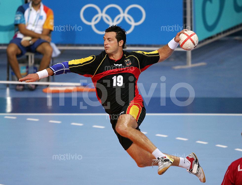 Olympia 2004 Athen Handball Viertelfinale Deutschland - Spanien Florian Kehrmann (GER)
