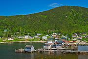 Fishing village and shoreline along White Bay. Baie Verte Peninsula.<br /><br />Newfoundland & Labrador<br />Canada