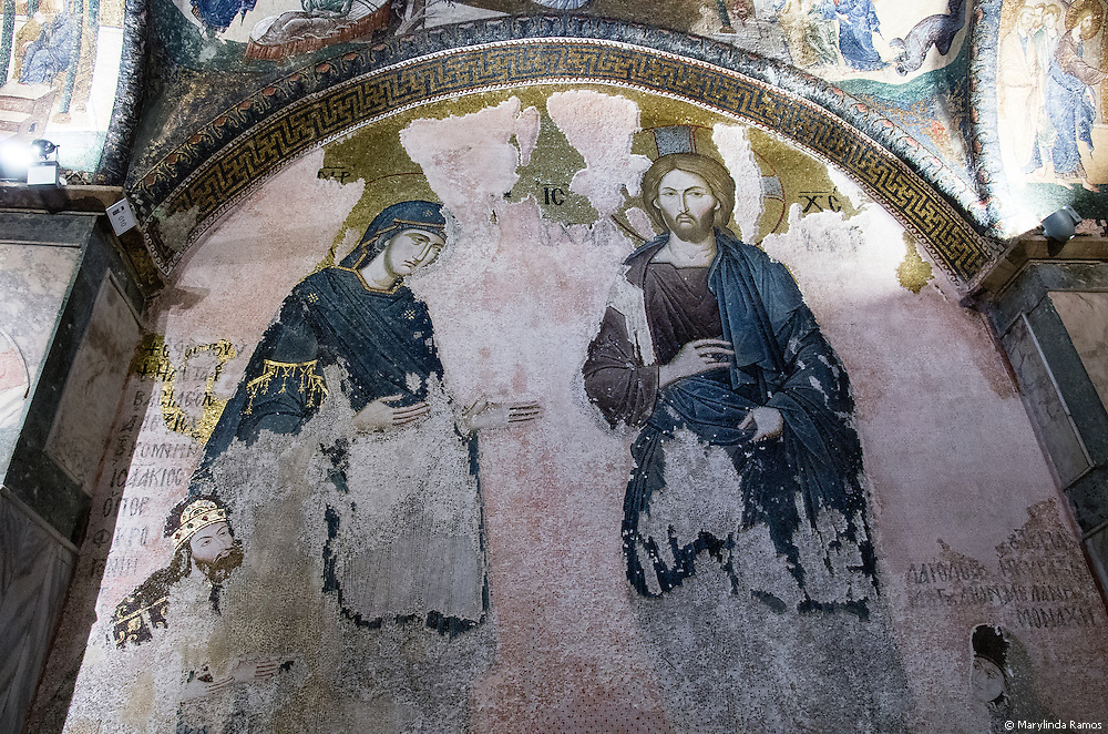 The museum website refers to this image as a Deesis, a depiction of Christ, Mary, and John the Baptist.