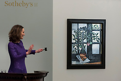 "Licensed to London News Pictures. 01/03/2017. London, UK.  ""Plant De Tomates"" by Pablo Picasso sold for a hammer price of GBP15m (est. GBP10-15m), at the evening sale of Impressionist and Surrealist Art at Sotheby's in New Bond Street. Photo credit : Stephen Chung/LNP"