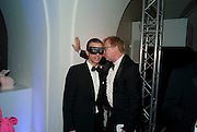 DAVID COLLINS, The Surrealist Ball in aid of the NSPCC. Hosted by Lucy Yeomans and Harry Blain. Banqueting House. Whitehall. 17 March 2011. -DO NOT ARCHIVE-© Copyright Photograph by Dafydd Jones. 248 Clapham Rd. London SW9 0PZ. Tel 0207 820 0771. www.dafjones.com.