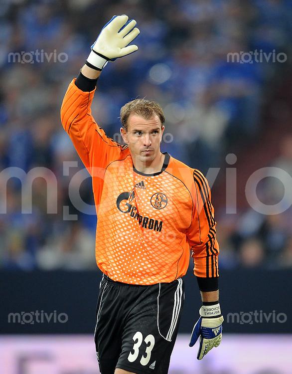 FUSSBALL   CHAMPIONS LEAGUE   QUALIFIKATION   SAISON 2008/2009 FC Schalke 04 - Atletico Madrid   13.08.2008 Torwart Mathias SCHOBER (FC Schalke 04)