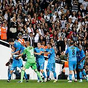 Sivasspor's Celebrates his goal during their Turkish superleague soccer match Besiktas between Sivasspor at BJK Inonu Stadium in Istanbul Turkey on Monday, 01 October 2012. Photo by TURKPIX