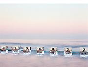 Full Moon over Merewether Baths, Merewether Beach, Newcastle, Australia,