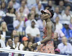 September 5, 2017 - New York, New York, United States - Venus Williams of USA reacts during match against Petra Kvitova of Czech Republic at US Open Championships at Billie Jean King National Tennis Center  (Credit Image: © Lev Radin/Pacific Press via ZUMA Wire)