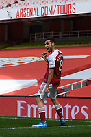 Football - 2020 /2021 Premier League - Arsenal v Fulham - Emirate Stadium<br /> <br /> Arsenal's Dani Ceballos celebrates prematurely as his goal is ruled out for offside.<br /> <br /> COLORSPORT