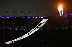 A view of the Paralympic flame during the Closing Ceremony for the PyeongChang 2018 Winter Paralympics in South Korea.
