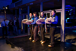 Ross River Dena Drummers perform at gala event at the 2010 Vancouver Olympics