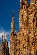 Milan Cathedral Church, Duomo di Milano, afternoon light, October 2007,  Milan, Italy