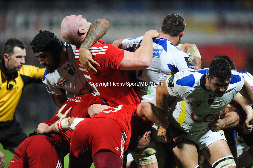 Sebastien VAHAAMAHINA / Paul O CONNELL - 14.12.2014 - Clermont / Munster - European Champions Cup <br /> Photo : Jean Paul Thomas / Icon Sport