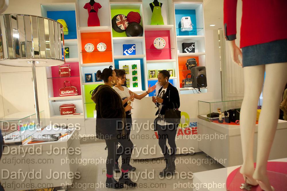 LOREN PLATT; RENEE YEARWOOD, The Nineties are Vintage. Concept Store, Rellik and Workit. The Wonder Room. Selfridges. Oxford St. London. 7 January 2010.
