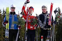NM Nordiske grener, Granåsen, Trondheim 04.03.04,<br />(fra venstre) Eirik Kurland Olsen, Ros IL/NTG, Tomas Moen, Sør-Fron IL, Martin Andersen, Engerdal SP.KL<br /><br />Foto: Carl-Erik Eriksson, Digitalsport