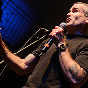 Washington, D.C. - May 31, 2010:  Although he arrived late due to travel issues, Henry Rollins performed admirably as the night's host during the 30th Anniversary concert at the legendary 9:30 Club. (Photo by Kyle Gustafson/For The Washington Post)