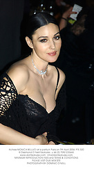 Actress MONICA BELLUCI at a party in Paris on 7th April 2004.PTE 320