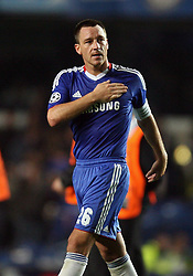 28.09.2010, Stamford Bridge, London, ENG, UEFA Champions League, Chelsea vs Olympique Marseille, im Bild .John Terry, the Captain  of Chelsea salutes the crowd at the end   during the Match Chelsea v Marseille, Group F, of  the UCL ( Uefa Champions League Group stages)  at Stamford Bridge in London. EXPA Pictures © 2010, PhotoCredit: EXPA/ IPS/ Marcello Pozzetti +++++ ATTENTION - OUT OF ENGLAND/UK +++++ / SPORTIDA PHOTO AGENCY