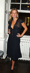 DAVINIA TAYLOR at a party hosted by Franc Roddam and Frost French to celebrate the publication of Margarita's Olive Press by Rodney Sheilds held at No1 Greek Street, Soho Square, London W1 on 15th September 2005.<br /><br />NON EXCLUSIVE - WORLD RIGHTS