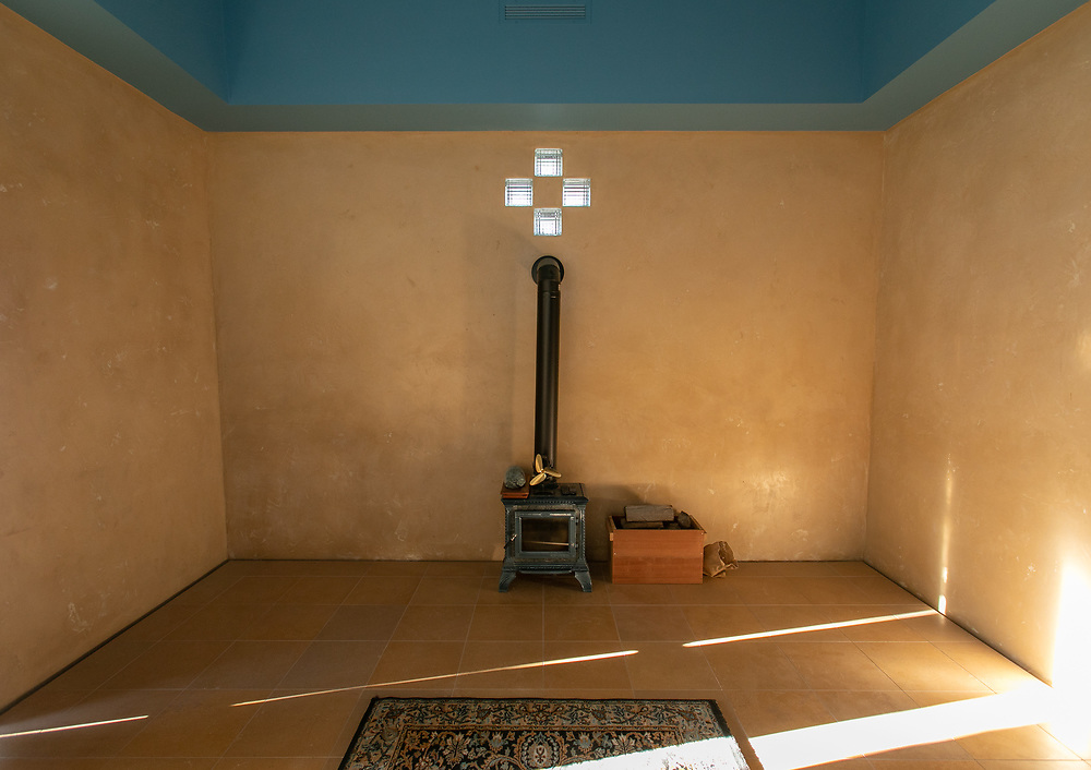 The chapel or meditation room at Rancho Bendito, north of Westcliffe, CO.