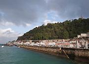 The sea wall near the harbour at San Sebastian, Spain