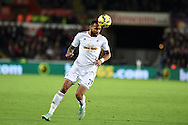 note caption correction : Kyle Bartley of Swansea city in action, Barclays Premier league match, Swansea city v Queens Park Rangers at the Liberty stadium in Swansea, South Wales on Tuesday 2nd December 2014<br /> pic by Andrew Orchard, Andrew Orchard sports photography.