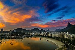 Vista aérea da enseada de Botafogo, na entrada da Baía da Guanabara. FOTO: Jefferson Bernardes/Preview.com
