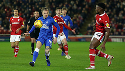 Jason Cummings of Peterborough United in action with Dimitri Cavare of Barnsley - Mandatory by-line: Joe Dent/JMP - 26/12/2018 - FOOTBALL - Oakwell Stadium - Barnsley, England - Barnsley v Peterborough United - Sky Bet League One