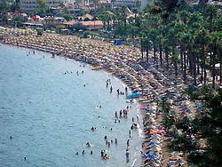 Crowded beach Marmaris Turkey