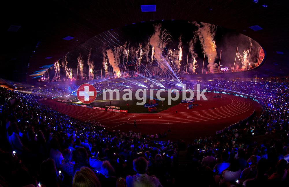 Fireworks during the closing ceremony of the Iaaf Diamond League meeting (Weltklasse Zuerich) at the Letzigrund Stadium in Zurich, Switzerland, Thursday, Aug. 29, 2019. (Photo by Patrick B. Kraemer / MAGICPBK)