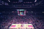 Jun 4, 1997; Chicago, Illinois, USA;  Opening tipoff of Game 2 of the 1997 NBA Finals between the Chicago Bulls, and the Utah Jazz at the United Center.  The Chicago Bulls defeated the Utah Jazz 97-85 to take a 2 games to 0 lead in the series.