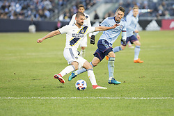 March 11, 2018 - New York, New York, United States - Perry Kitchen (2) of LA Galaxy controls ball during regular MLS game against NYC FC at Yankee stadium NYC FC won 2 - 1 (Credit Image: © Lev Radin/Pacific Press via ZUMA Wire)