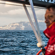 Leg 01, Alicante to Lisbon, day 02, on board MAPFRE. Photo by Ugo Fonolla/Volvo Ocean Race. 23 October, 2017
