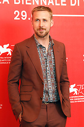 August 29, 2018 - Venice, Venetien, Italy - Ryan Gosling during the 'First Man' photocall at the 75th Venice International Film Festival at the Palazzo del Casino on August 29, 2018 in Venice, Italy (Credit Image: © Future-Image via ZUMA Press)